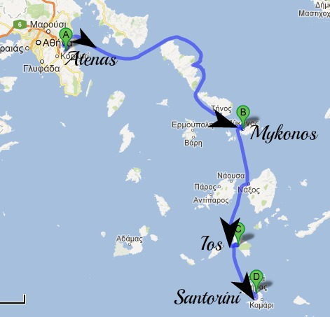 Rota Atenas e Ilhas