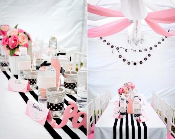 chá pink e black
